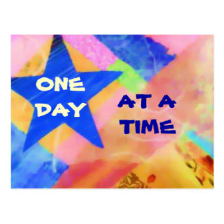 One Day at a Time Blue Star postcard