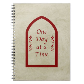 One Day at a Time-Burgundy FrameVintage Notebook