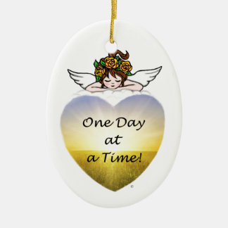 One Day at a Time Ceramic Ornament