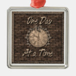 One Day at a Time Christmas Tree Ornament