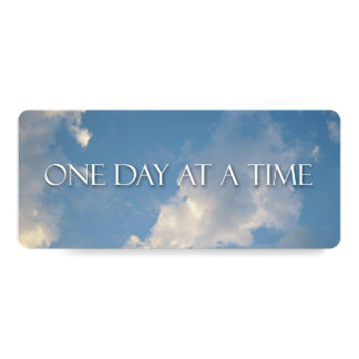 One Day at a Time Clouds and Sky 4x9.25 Paper Invitation Card