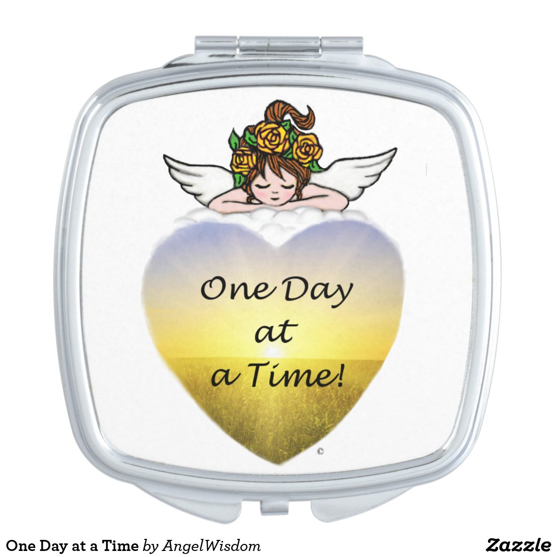 One Day at a Time Compact Mirror