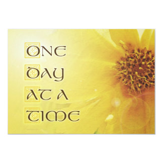 """One Day at a Time Coreposis 5"""" X 7"""" Invitation Card"""