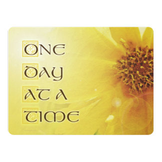 """One Day at a Time Coreposis 6.5"""" X 8.75"""" Invitation Card"""