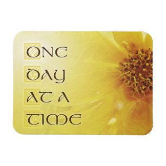 One Day at a Time Coreposis Rectangular Photo Magnet