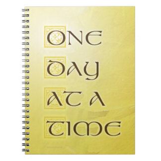 One Day at a Time Coreposis Spiral Notebook