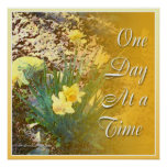 One Day at a Time Daffodils Poster