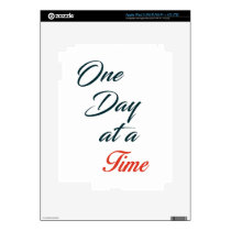 One Day at a time Decal For iPad 3