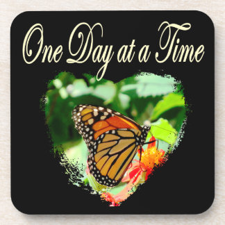 ONE DAY AT A TIME DRINK COASTER