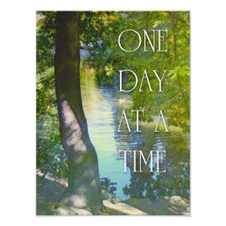 One Day at a Time Duck Pond Poster