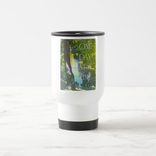 One Day at a Time Duck Pond Travel Mug