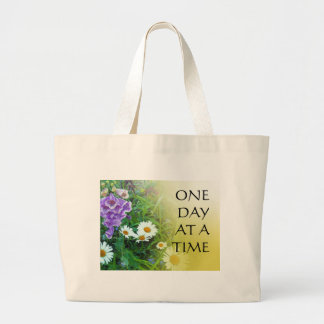 One Day at a Time Flower Garden Canvas Bag