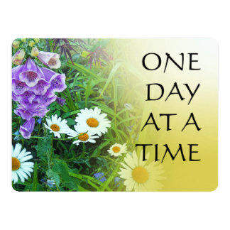 One Day at a Time Flower Garden 6.5x8.75 Paper Invitation Card