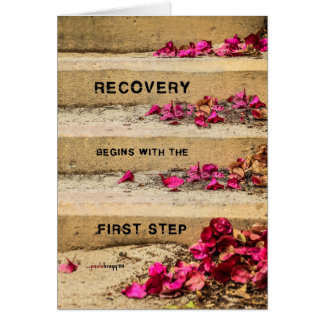 One Day at a Time (Flowers on Steps / Recovery) Card