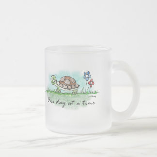 One Day at a Time Frosted Glass Coffee Mug