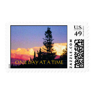 One Day at a Time Glowing Sunset Postage