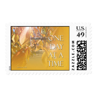 One Day at a Time Golden Leaves Postage
