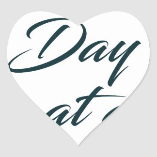 One Day at a time Heart Sticker