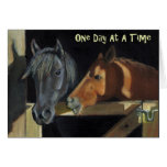 One Day At A Time: Horses in Oil Pastel Cards