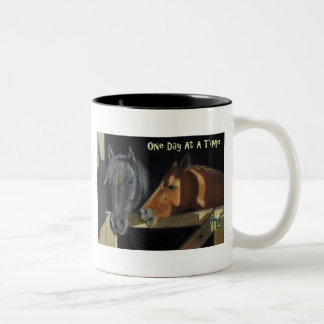 One Day At A Time: Horses in Oil Pastel Mugs
