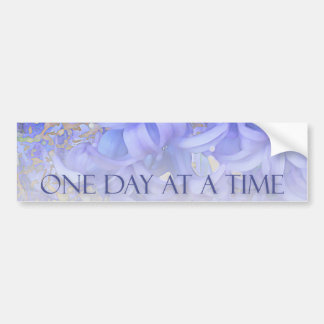 One Day at a Time Hyacinths Car Bumper Sticker