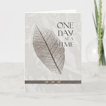 One Day at a Time Inspiration Card