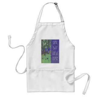 One Day at a Time Irises and Trees Adult Apron