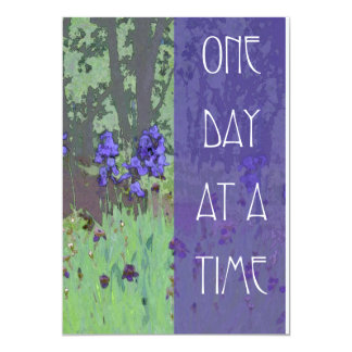 One Day at a Time Irises and Trees 5x7 Paper Invitation Card