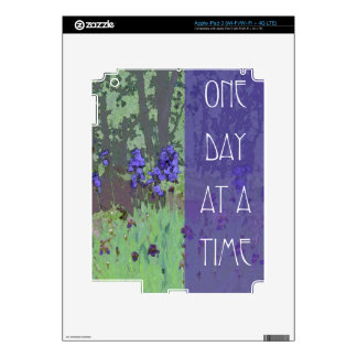 One Day at a Time Irises and Trees iPad 3 Skin
