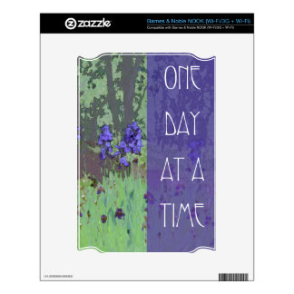 One Day at a Time Irises and Trees NOOK Decal