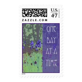 One Day at a Time Irises and Trees Postage
