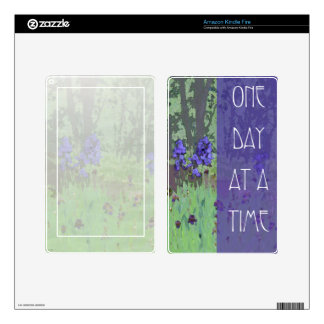 One Day at a Time Irises and Trees Skins For Kindle Fire