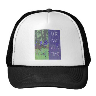 One Day at a Time Irises and Trees Trucker Hat