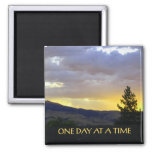 One Day at a Time Jully Sky 2 Inch Square Magnet