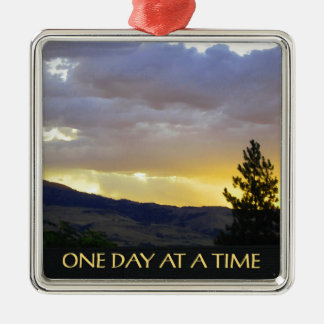 One Day at a Time July Sky Metal Ornament