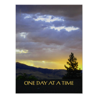 One Day at a Time July Sky Print