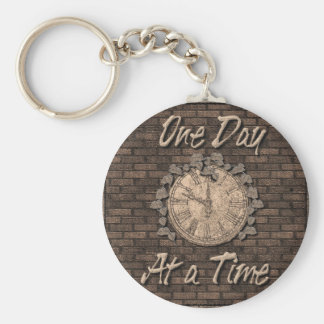 One Day at a Time Keychains