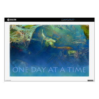 "One Day at a Time Koi Pond Decal For 17"" Laptop"