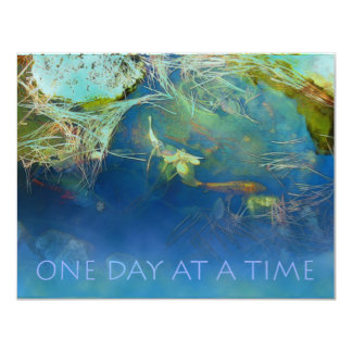 One Day at a Time Koi Pond 4.25x5.5 Paper Invitation Card