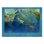 One Day at a Time Koi Pond Poster