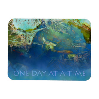 One Day at a Time Koi Pond Rectangular Photo Magnet
