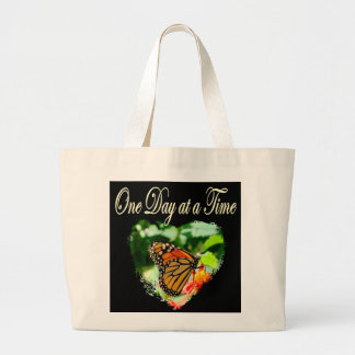 ONE DAY AT A TIME LARGE TOTE BAG