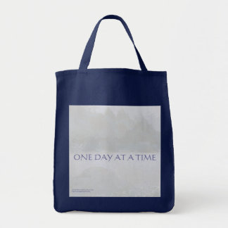 ONE DAY AT A TIME  Lavender Blue Bay Canvas Bag