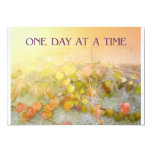 "One Day at a Time Leaves Invitation 5"" X 7"" Invitation Card"