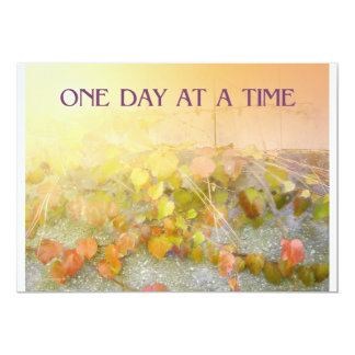 """One Day at a Time Leaves Invitation 5"""" X 7"""" Invitation Card"""