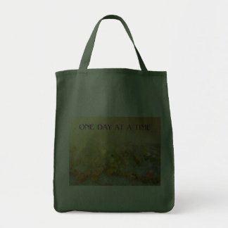 One Day at a Time Leaves on Wall Canvas Bag