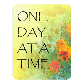 One Day at a Time Lilacs and Poppies Card