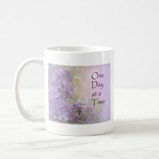 One Day at a Time Lilacs Coffee Mug