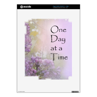 One Day at a Time Lilacs Decals For iPad 2