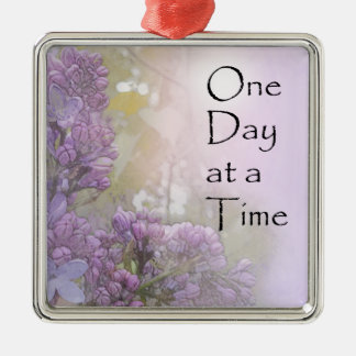 One Day at a Time Lilacs Metal Ornament